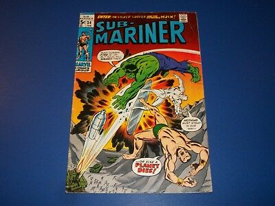 Sub-Mariner #34 Bronze Age 1st Defenders Silver Surfer Hulk Wow