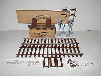 Vintage Jim Beam Casey Jones - Train Track w/Clips/Bumpers/Railroad Signs - NEW
