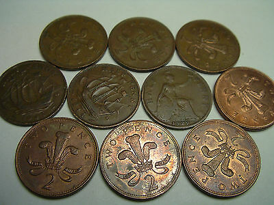 U.K. variety, penny, and new 2 pence