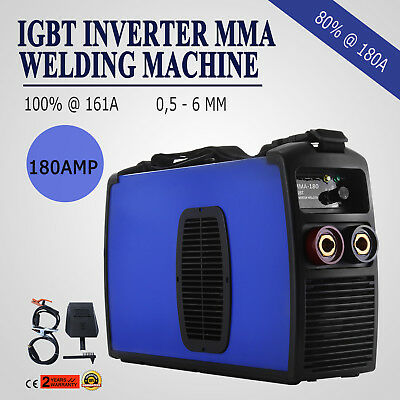 Inverter Welding Machine 180A MMA Arc E-HAND Welder Stable Arc 230V Inverter