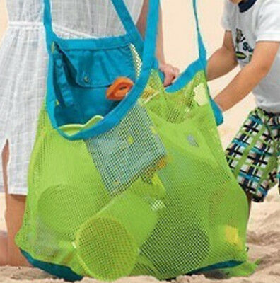 Anti Sand Beach Towel Bag Mesh Storage Case Handy Carry Child Kid Toy Place Hot.