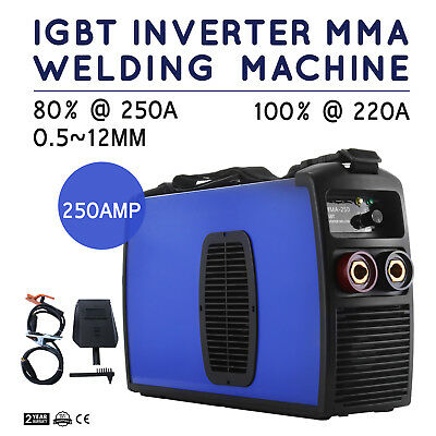 Inverter Welding Machine 250A MMA Arc E-HAND Welder 50HZ/60HZ TIG ARC PRO