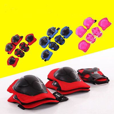 New Kid 6PCS skating protective gear Safety Children Knee Elbow Pads Set XG^