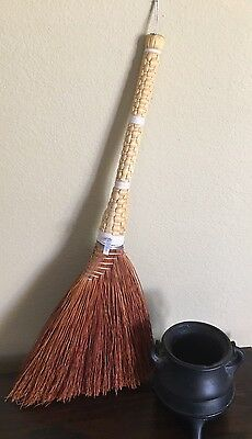 Witches Broom  Halloween Hearth Broom Traditional Appalachian Craft Hand Made