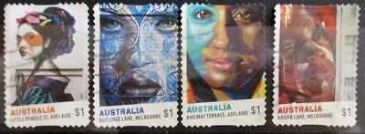 Australia 2017 Street Art 4 P&S stamps good used