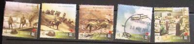 Australia 2017 Centenary WWI 5 sheet stamps good used