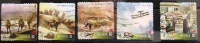 Australia 2017 Centenary WWI 1917 5 P&S stamps good used