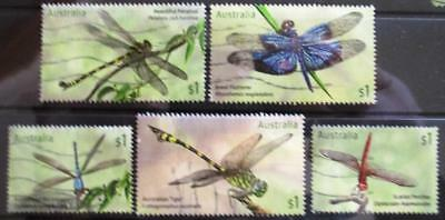 Australia 2017  Dragonflies 5 stamps good used