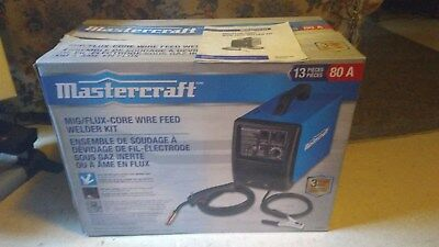 Mastercraft Flux/Mig Core Wire Feed Welder - NEW Condition - Mig and Flux