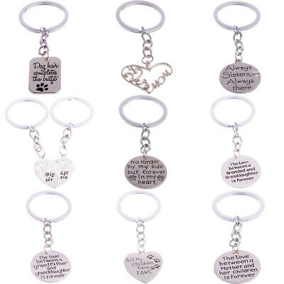Dad Mom Sister Family Jewelry Keychain Keyring Key Chain Charm Xmas Gifts Pets