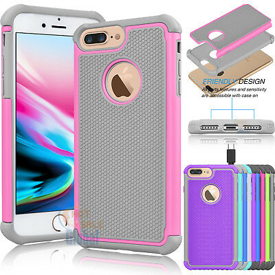 Hybrid Shockproof Armor Impact Hard Case Cover for iPhone 8 Plus /iphone 8