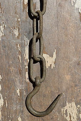 Vintage Large Docking Hook & Chain old industrial reclaimed dock yard