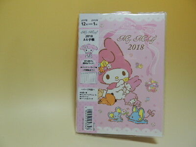 My Melody 2018 A6 schedule note agenda Japan new Sanrio