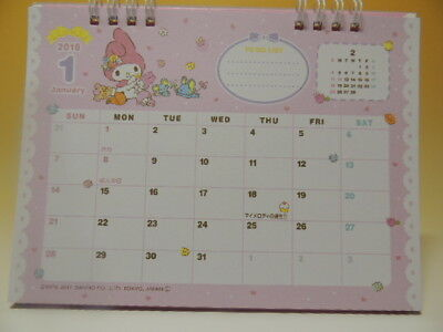 sanrio my melody 2018 desk top calendar japan new cute