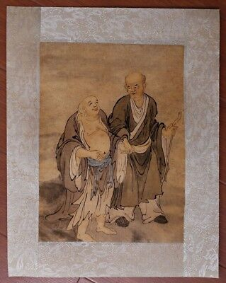 Rare Unique Chinese Handwork Characters Paper Old Painting Figures Mark PP399