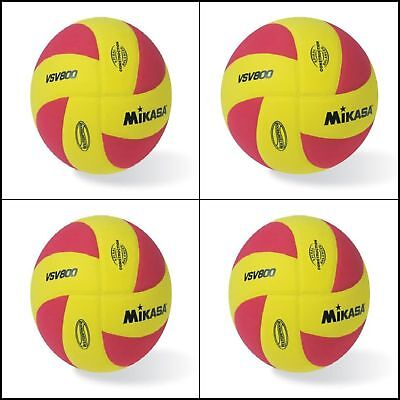 Mikasa All Purpose Volleyball Water Proof-No Sting Pillow Cover Ball-Yellow-Red
