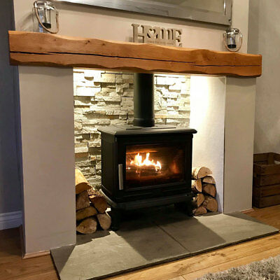 Oak Beam Fireplace / Mantle Piece Floating Shelf Fire Air Dried Contemporary