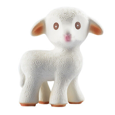 caaOcho Mia the Lamb | Natural rubber teathing toy