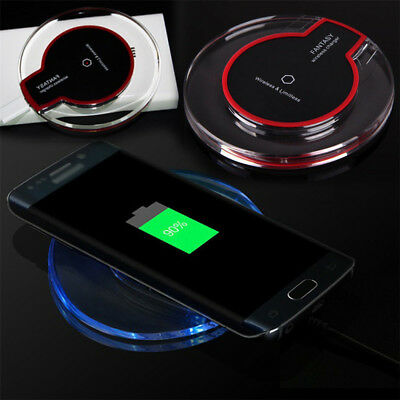 Fashion Wireless Charging Charger Pad Mat For Samsung Note 8 iPhone 8 8 Plus X