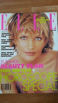 Elle July 1995 Helena Christensen cover uk