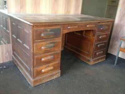 Antique Vintage Solid Wooden Desk
