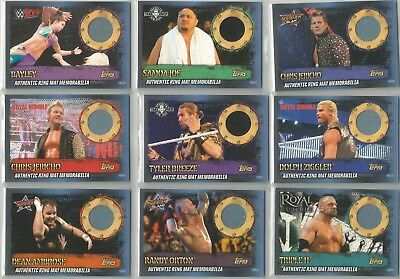 Topps Slam Attax 10 Authentic Ring Mat Memorabilia Cards - Choose