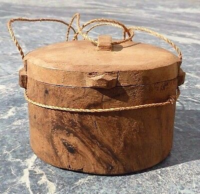 Rare Small Oceanic Polynesian South Pacific Wooden Tokelau Fishing Tackle Box Nr