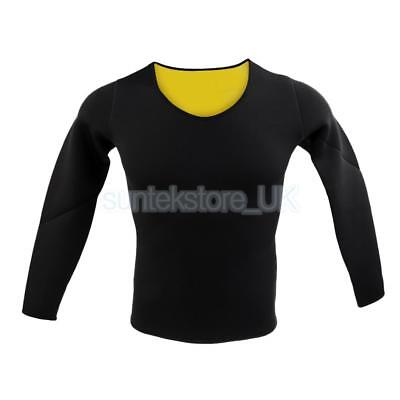 Neoprene Slimming Hot Exercise Top Yoga Running Gym Long Sleeve Workout L