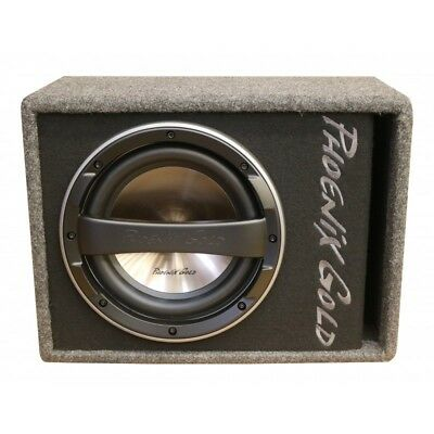 "Phoenix Gold Z112AB 12"" Amplified Car Subwoofer Bass Box Active Sub Active"