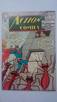 """1/3 Off Superman Action Comics # 296  Vf  """"the Invasion Of The Super-Ants""""  1963"""