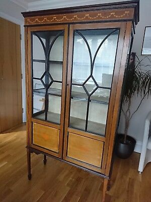 Edwardian display cabinet with inlay detail