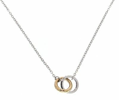 Gioielli Preziosi TWO RINGS NECKLACE IN YELLOW AND WHITE GOLD J7744