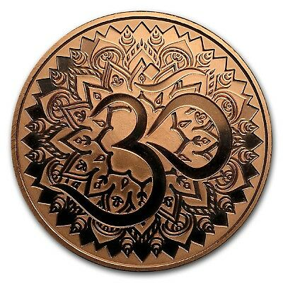 AUM 1 oz .999 Copper Round - Only 1,835 Minted (Reg'd Post)