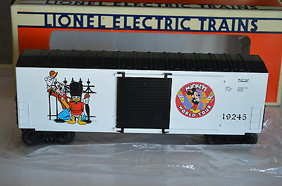 Lionel Mickey's World Tour Hi-Cube Railroad Box car 6-19245 iDisney