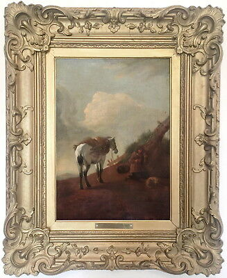 Horse in a Landscape Dutch Old Master Oil Painting Philips Wouwerman (1619-1668)