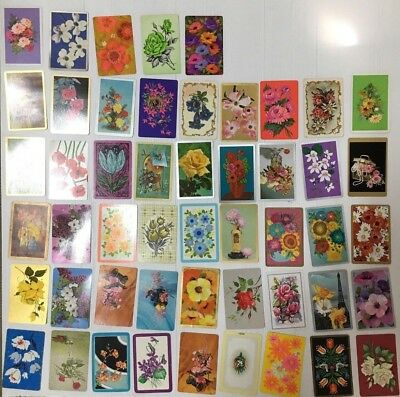 Swap Card Lot Of 50 Flower Cards
