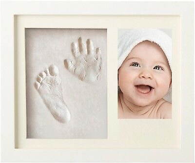 Newborn Baby Handprint and Footprint Picture Frame Kit for Boys and Girls, Baby