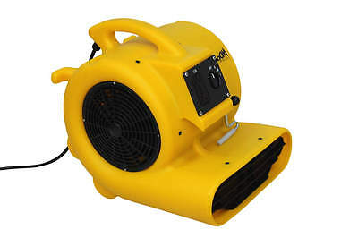 Zoom Carpet Dryer Air Mover 1/3 hp Commercial Quality Floor Fan w/ Carpet Clamp