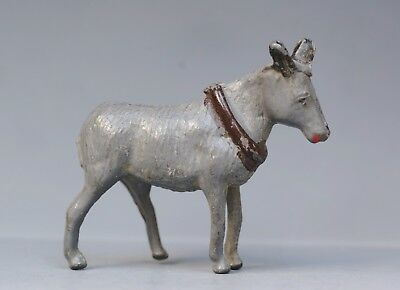 CRESCENT PRE-WAR 1940 LEAD FARM SERIES DONKEY with COLLAR - Nice Condition...!!