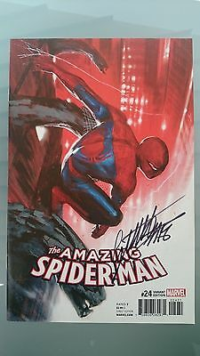 The Amazing Spider-Man # 24  Nm  1:25 Signed Gabriele Dellotto Variant  2017