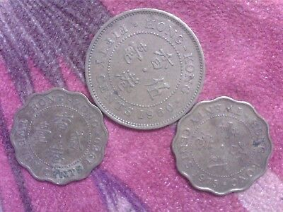 Hong  Kong   20  Cents   1975  1980    50   Cents    1980