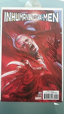 Inhumans Vs X-Men # 5  Nm  Signed Gabriele Dellotto 1:50 Variant Old Man Logan