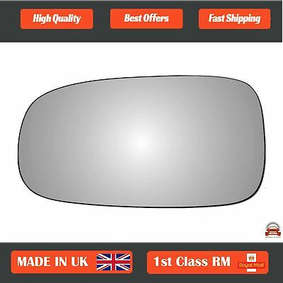 Saab 9-3 2002-2010 Left Passenger Side Convex wing mirror glass 153LS