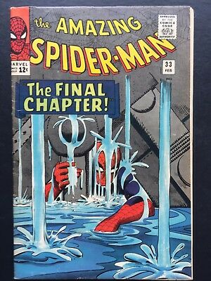 "The Amazing Spider-Man # 33 February 1966 FN ""THE FINAL CHAPTER!"""