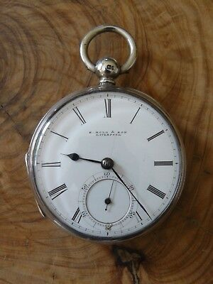 S. Bold & Son Liverpool Window Silver Cased Fusee Pocket Watch 1868