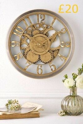 Home time Gold Wall Clock
