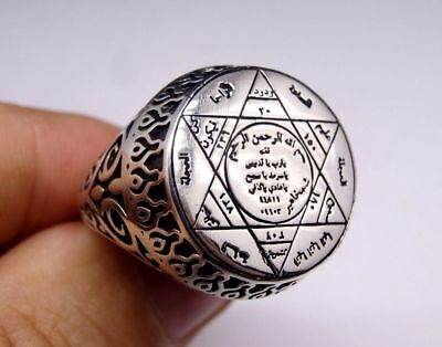 Handcraft 925 Sterling Silver Jewelry Devils and a Black Eye Men's  Ring