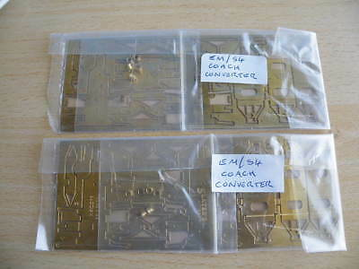 2 Slaters 1:76 scale brass etches - COACH CONVERTERS - from OO to EM/S4 gauge