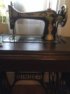 Singer 128 Full Size Treadle Sewing Machine