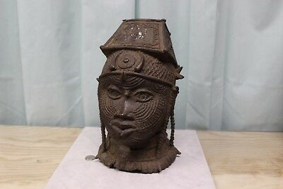 African Cast Head possibly bronze